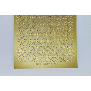 Mini Heart Peel-Off Stickers - Gold