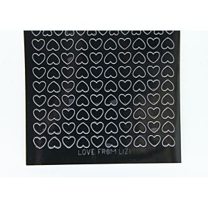 Mini Heart Peel-Off Stickers - Black