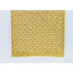 Mini Heart Peel-Off Stickers - Gold Glitter