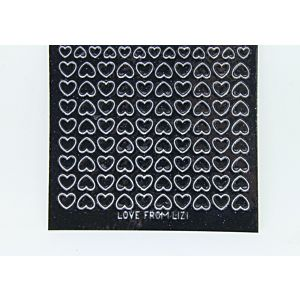 Mini Heart Peel-Off Stickers - Black Glitter