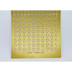 Mini Star Peel-Off Stickers - Gold