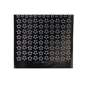 Mini Star Peel-Off Stickers - Black
