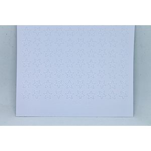 Mini Star Peel-Off Stickers - White