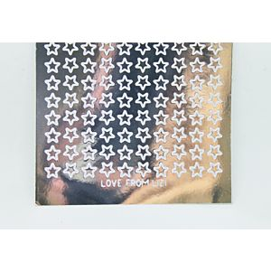 Mini Star Peel-Off Stickers - Silver Mirror