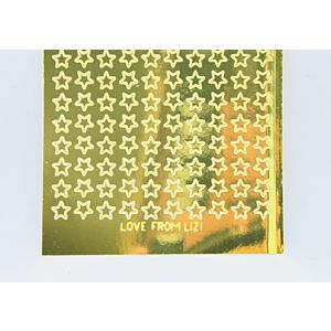 Mini Star Peel-Off Stickers - Gold Mirror
