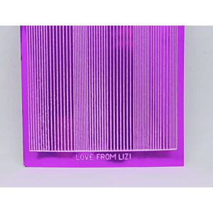 Pin Stripe Peel-Off Stickers - Fuschia Pink Mirror