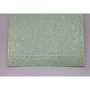 Straight Peel-Off Stickers - Mint Glitter