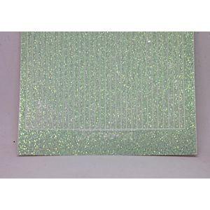 Straight Peel-Off Stickers - Mint Glitter