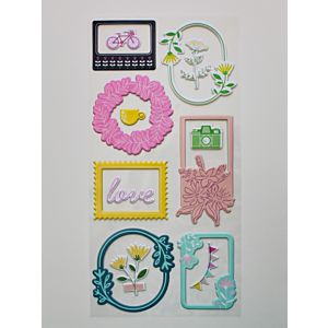 Puffy Frame Stickers  - August 20  Add On