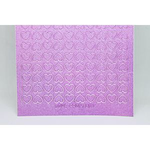 Mini Heart Peel-Off Stickers - Mauve Moondust