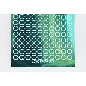 Mini Circle Peel-Off Stickers - Teal Mirror