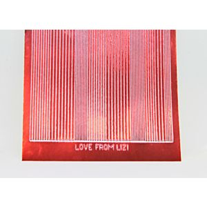 Pin Stripe Peel-Off Stickers - Ruby Red Mirror