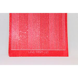 Pin Stripe Peel-Off Stickers - Strawberry Glitter