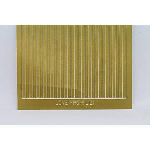 Straight Peel-Off Stickers - Matt Gold