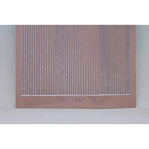 Pin Stripe Peel-Off Stickers - Mink/Silver Finish
