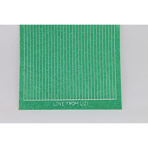 Straight Peel-Off Stickers - Jade Glitter