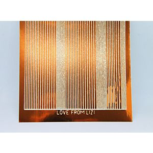 Pin Stripe Peel-Off Stickers - Copper Mirror/Gold Finish