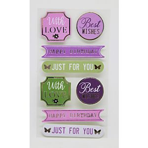Butterfly Wishes - Sentiment Toppers