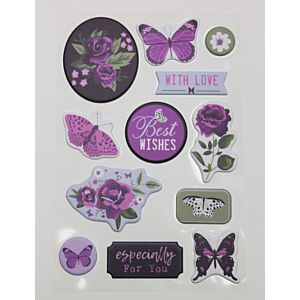 Butterfly Wishes - Puffy Stickers