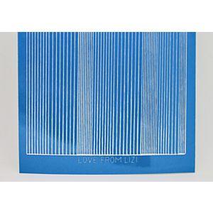Pin Stripe Peel-Off Stickers - Ocean Blue