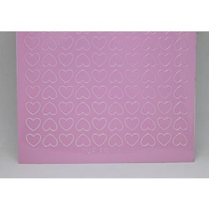 Mini Heart Peel-Off Stickers - Pink