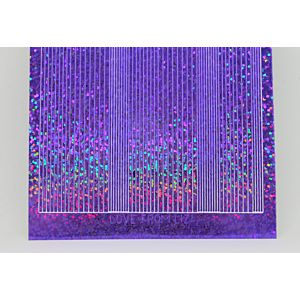 Pin Stripe Peel-Off Stickers - Purple Holographic