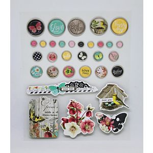 Adhesive Brads And Chipboard Stickers - July 21 Add-On