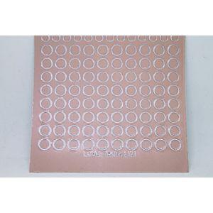 Mini Circle Peel-Off Stickers - Mink