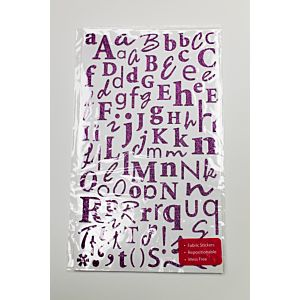 Glitter Alphabet Stickers - Royal Purple