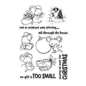 Hero Arts - Christmas Mice - Stamp Set
