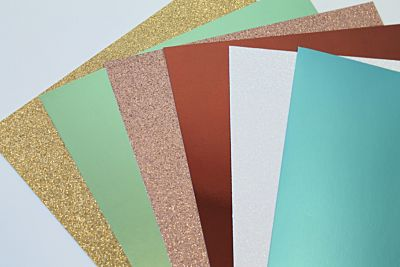 Home Sweet Home Glitter And Mirror Cardstock Bundle - October 19 Add On