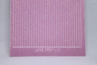 Straight Peel-Off Stickers - Clear Iridescent Pink