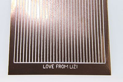 Straight Peel-Off Stickers - Brown Mirror