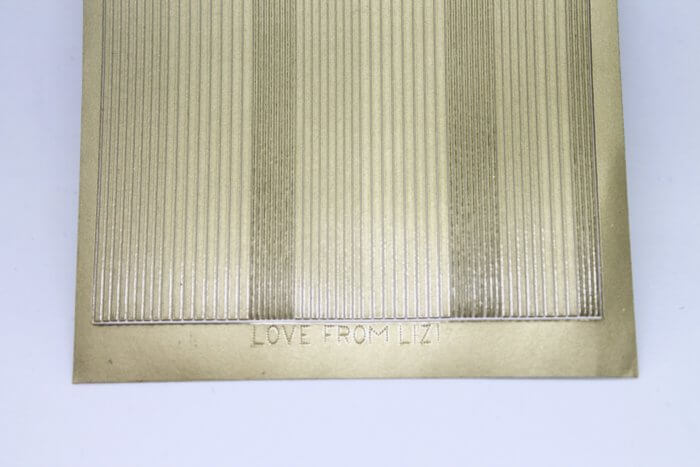 Pin Stripe Peel-Off Sticker - Matt Gold